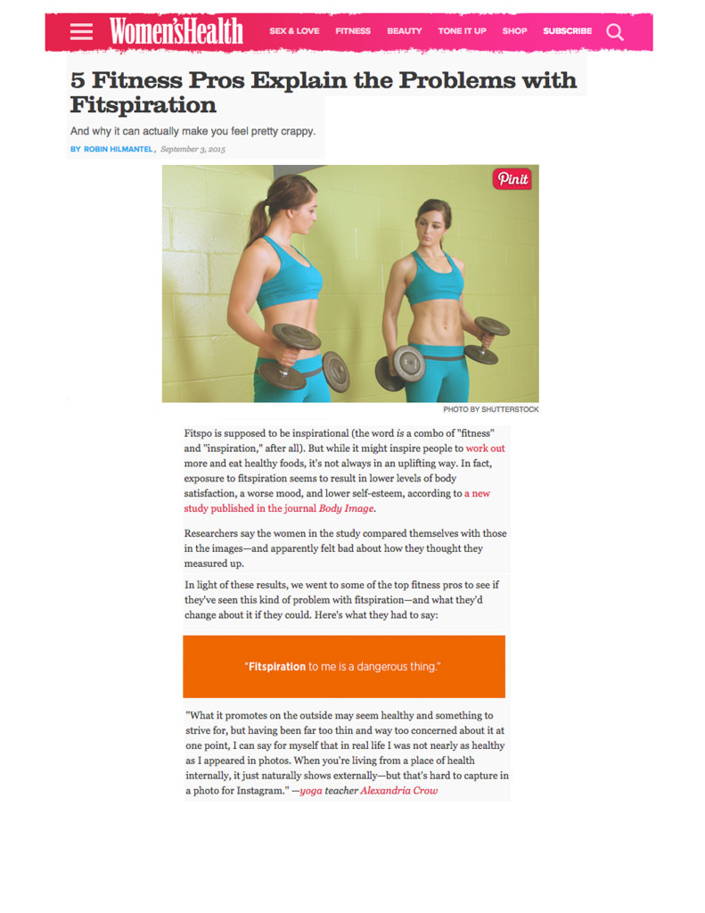 Alexandria Crow_Women's Health 09052015